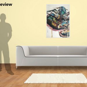 DY Lobster, 100cm x 70cm giclee print oil painting on canvas
