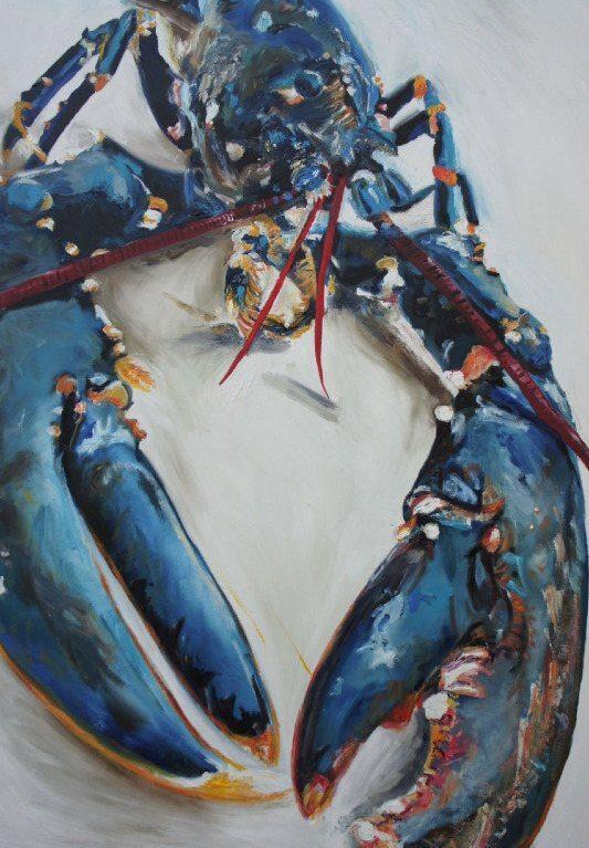 Lobster Blue Print, 70cm x 50cm