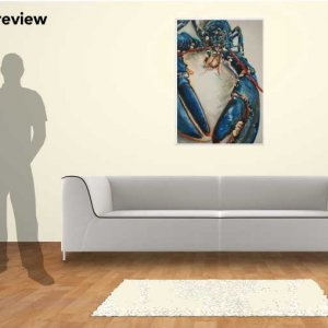 Lobster Blue, 100cm x 70cm giclee print oil painting on canvas