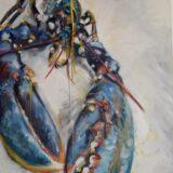 Yellow Lobster Print, 70cm x 50cm