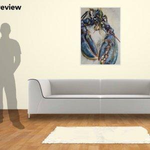 Yellow Lobster, 100cm x 70cm giclee print