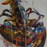 Dripping Lobster Print, 76cm x 76cm
