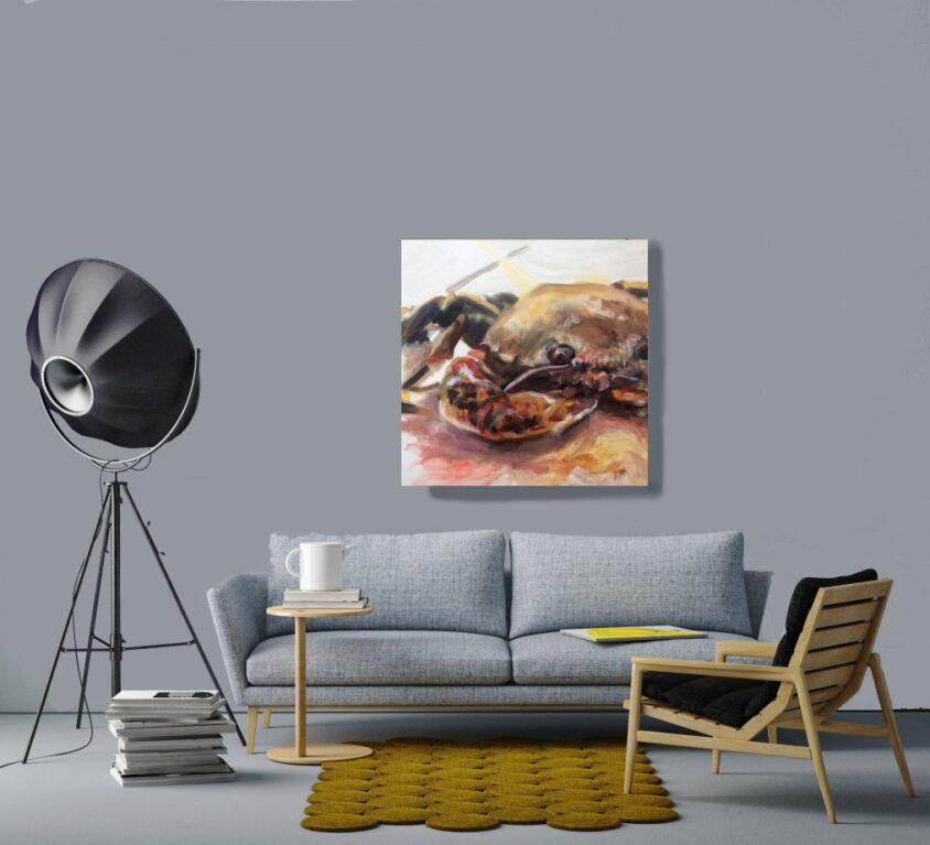 Crab Study Print, 76cm x 76cm
