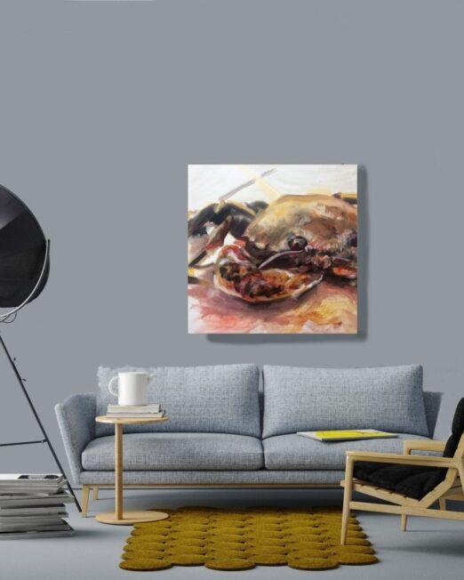 Crab-study-print-on-the-wall-1024x922