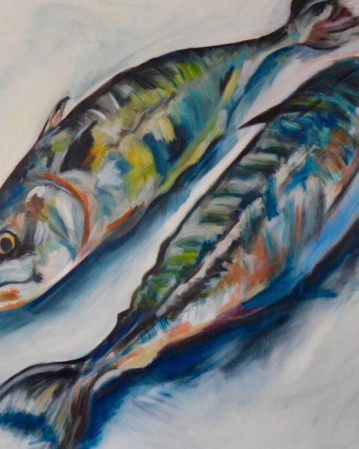 Two-Mackerel-100-x-100cm-commission-1024x1014
