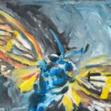 Moth Yellow Blue