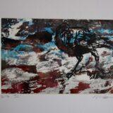Japanese Crow Lino Print