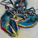 Lobster Yellow Claw, 100 x 120cm