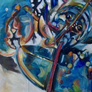 Lobster Right 80 x 100cm, oil on canvas