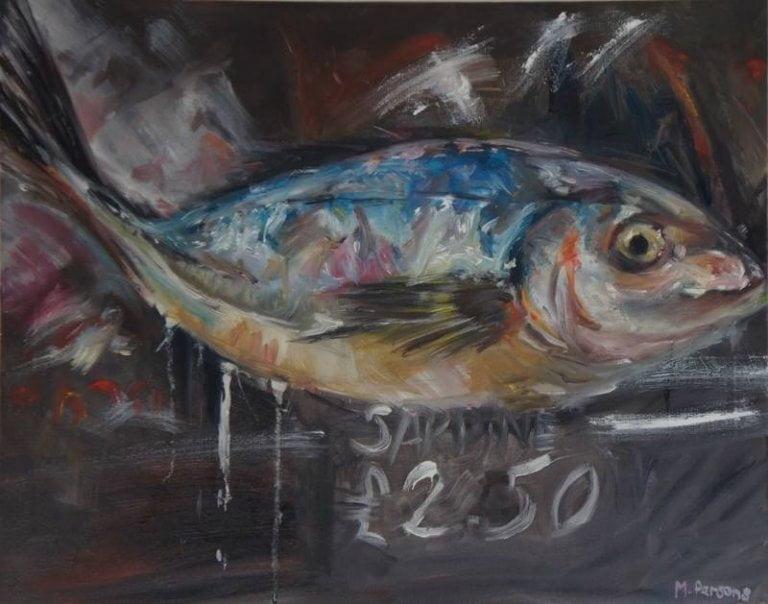 Sardine! Oil on canvas