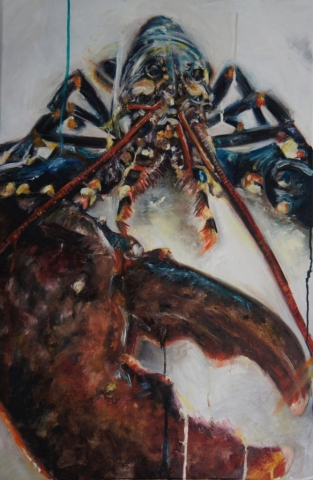 Lobster Large Claw, oil painting on canvas