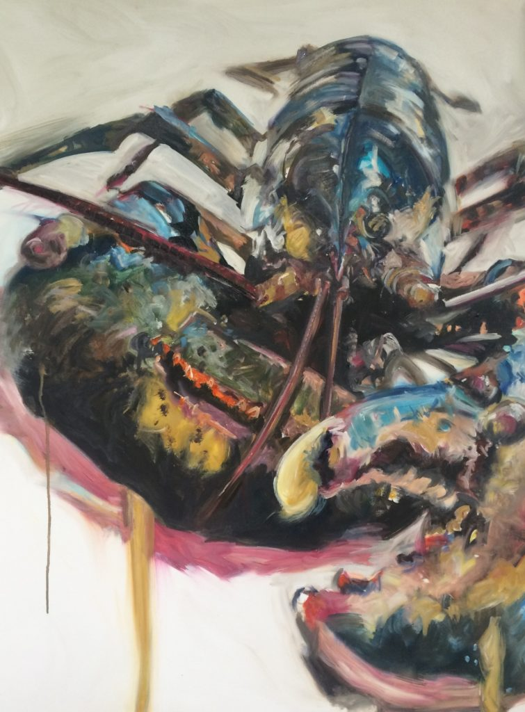 DY Lobster, oil on canvas