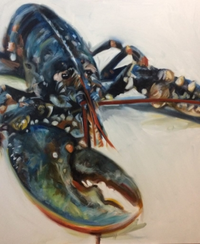 Scottish Lobster Two, oil on canvas
