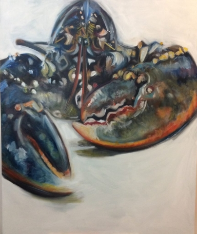 Scottish Lobster One, oil on canvas