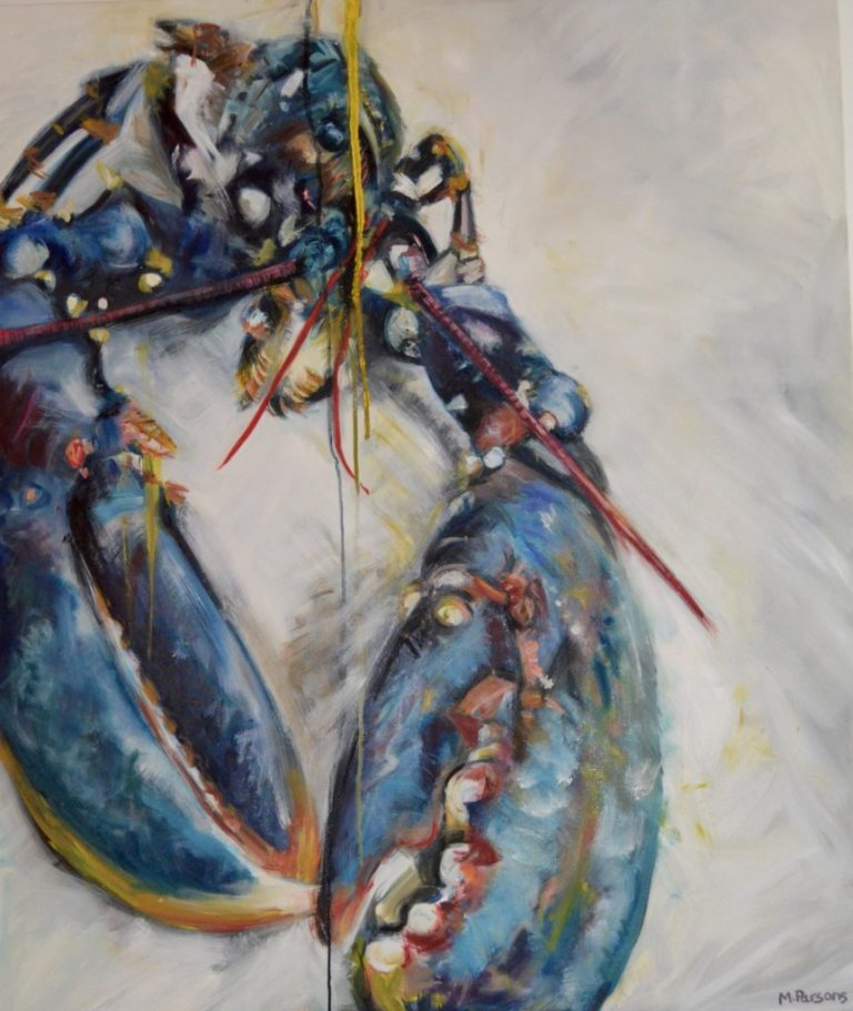 Lobster Yellow, oil on canvas