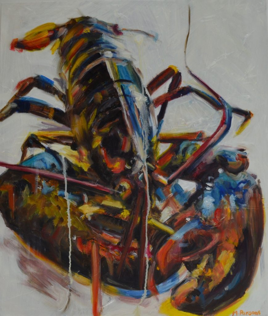 Primary Lobster, oil on canvas