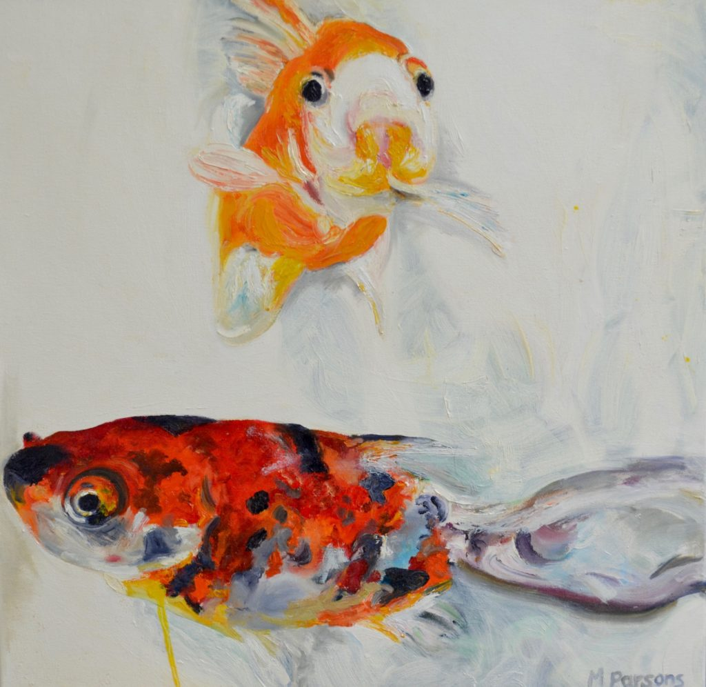 Double Gioldfish, oil on canvas