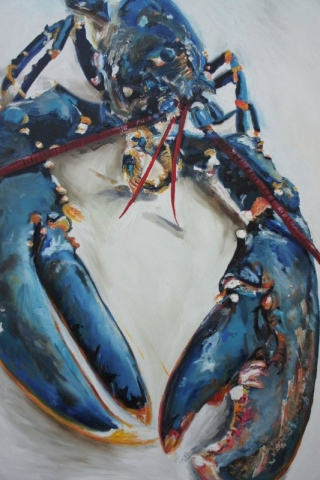 Lobster Blue, oil on canvas
