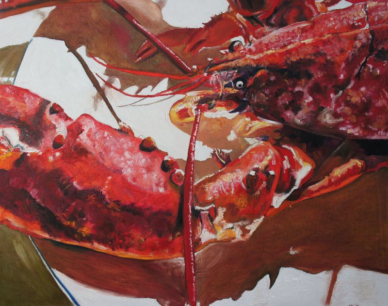Red Lobster, oil on canvas