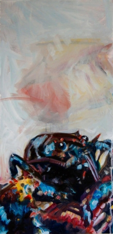 SL Lobster, oil painting on canvas