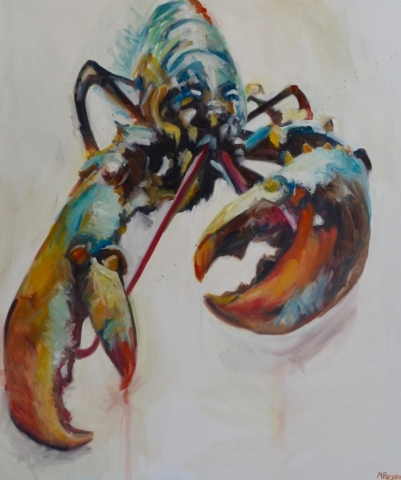 Lobster OC, oil on canvas