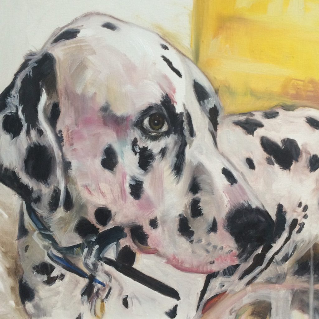 pet portrait, dog painting, commission