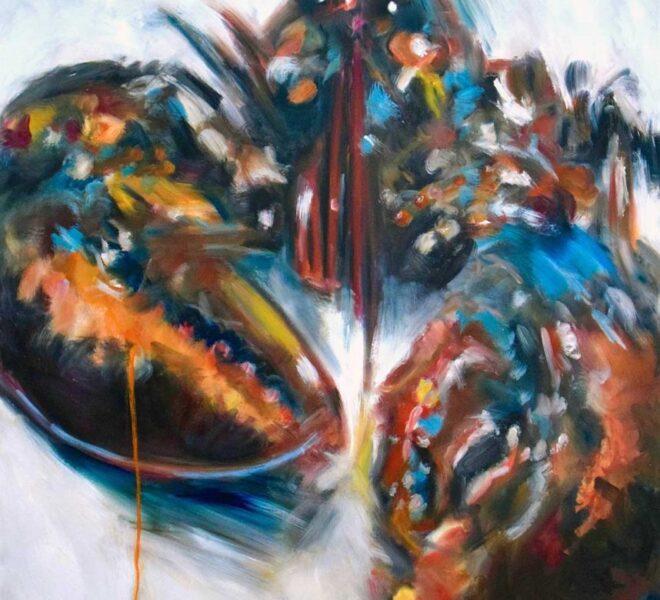 EL Lobster, oil on canvas