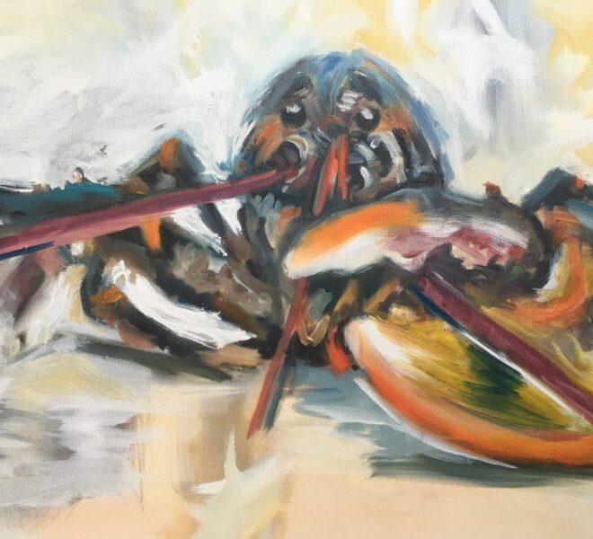 Lobster Looser, oil on canvas