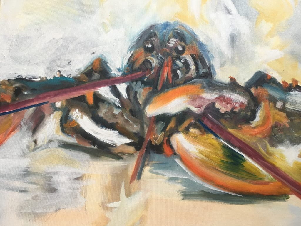 Lobster Looser, oil on canvas
