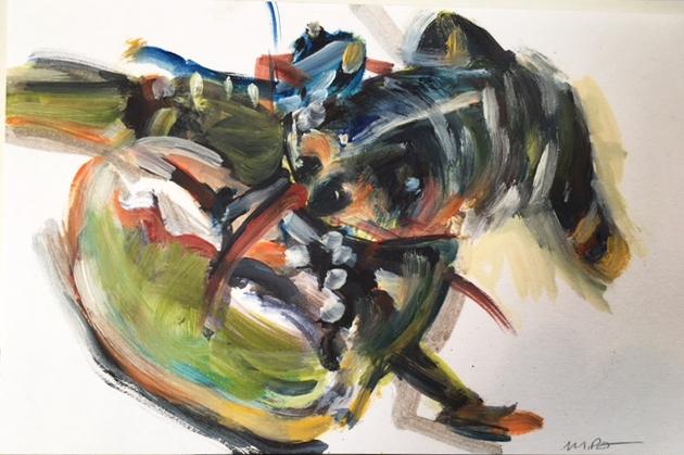 L2 Sketch, oil on paper