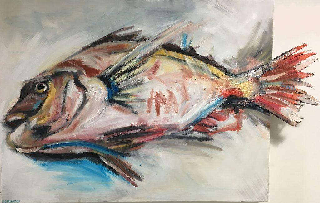 SFG, oil and card on canvas