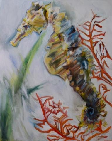 Sea Horse, oil on canvas
