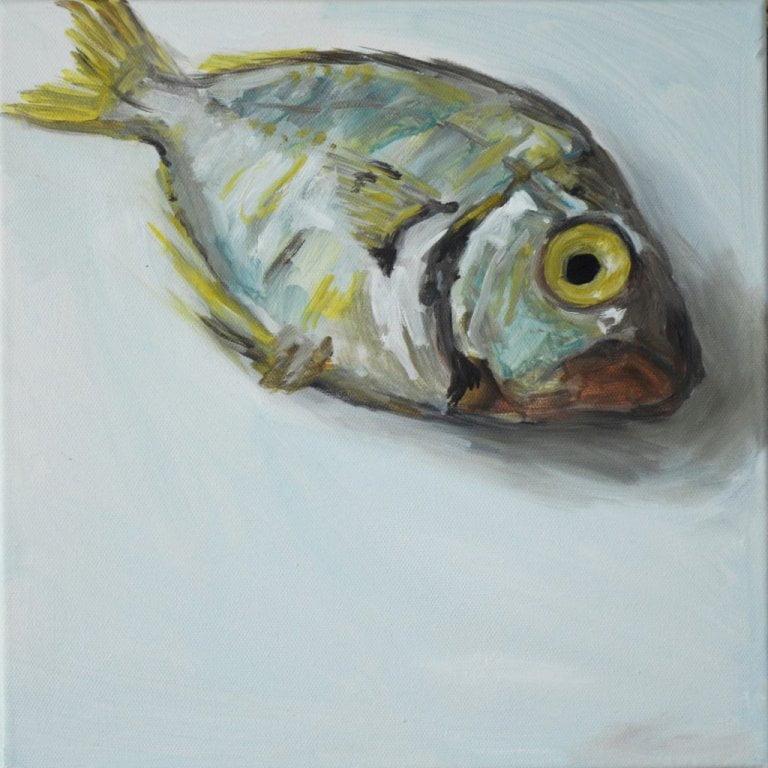 Single Fish Study, oil on canvas