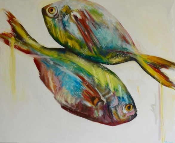 Two Bream, oil on canvas
