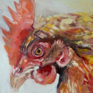 Rooster, oil on canvas