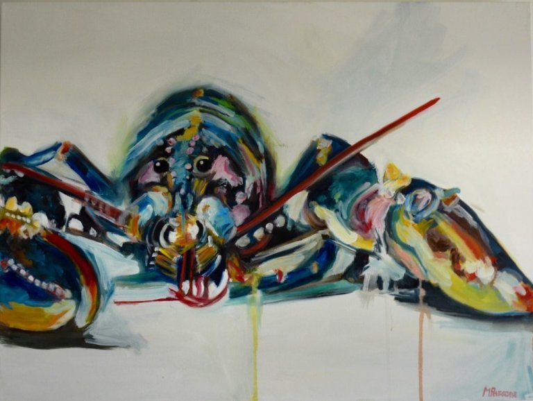 YP Lobster, oil on canvas