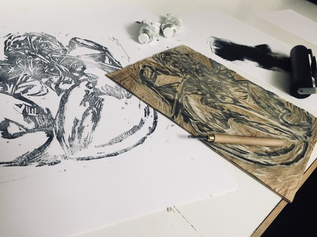 Woodcut first proof