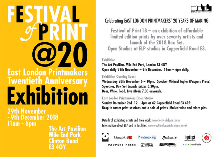 Festival of Print – Easel and Canvas