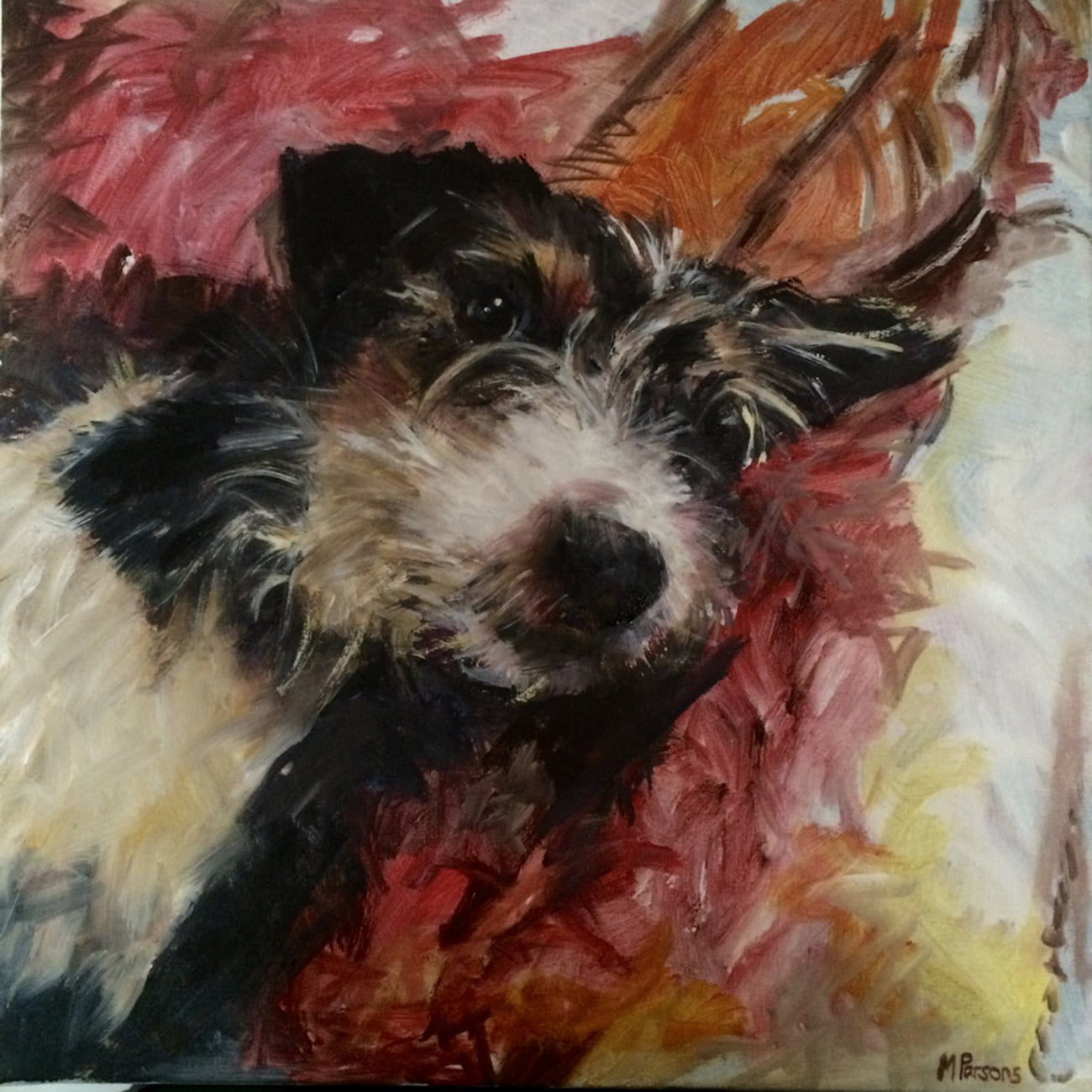 Jack Russell, 50 x 50cm