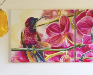 Two Birds commission, 1 x 2.2m