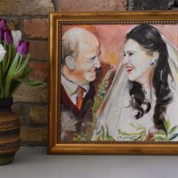 Wedding Portrait, 40 x 40cm framed oil on canvas