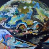 NSRC oil on canvas, 20 x 20cm