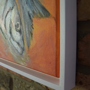 Mackerel Orange, oil on canvas framed, 50 x 60cm