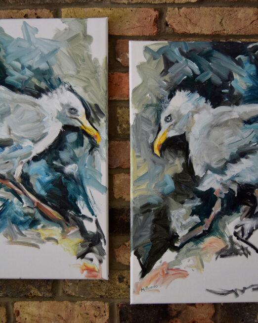 PGL and PGR oil on canvas, 50 x 60cm