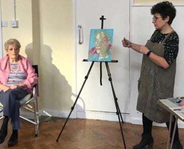 Portrait Painting Demo, Writtle Portrait Group