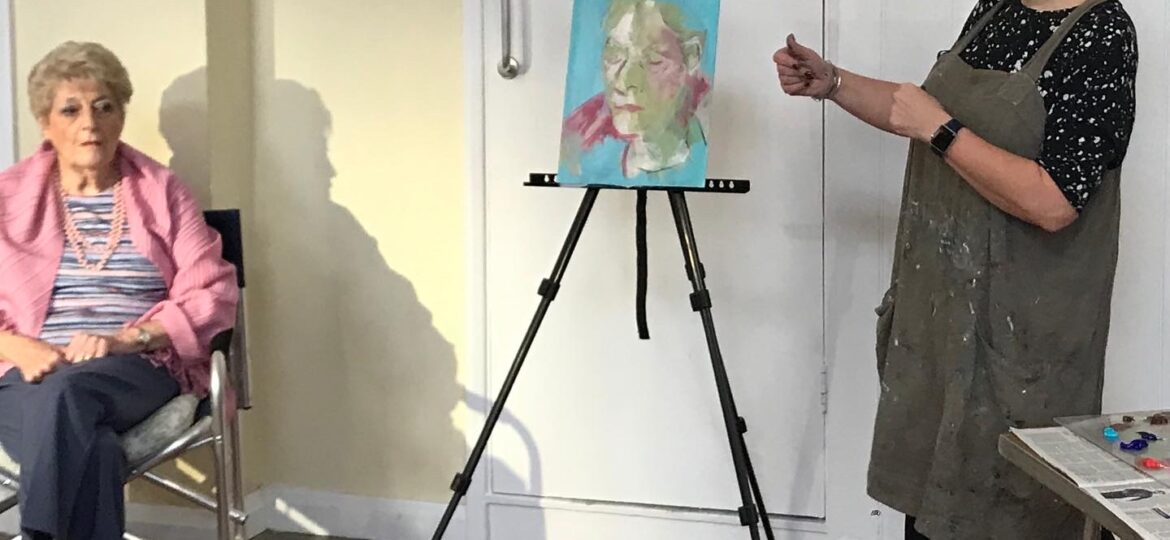 Portrait Painting Demo, Writtle Portrait Group