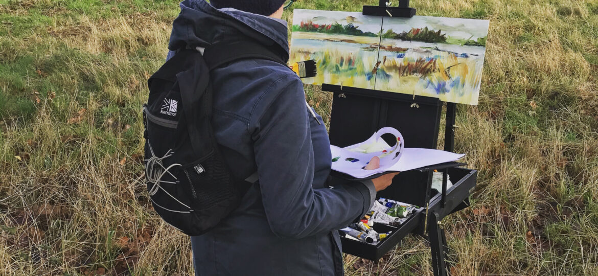 Painting at Snape Maltings