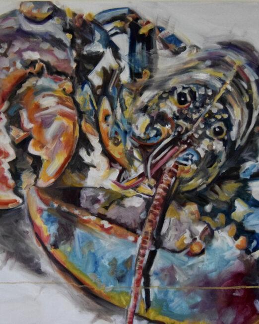 HYD 80 x 80cm, oil on canvas
