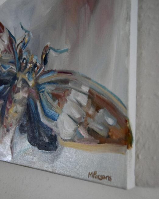 Small Moth 40 x 45cm, oil on canvas