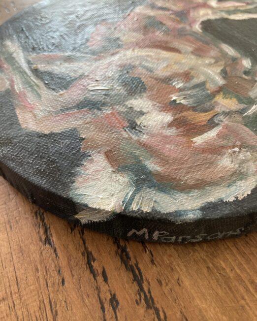 RH2 20cm diameter, oil on canvas